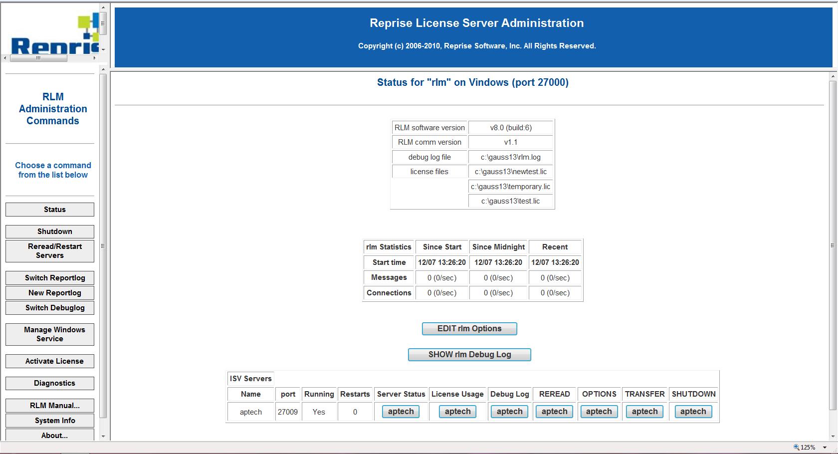 Set up the RLM as a Windows Service | Aptech