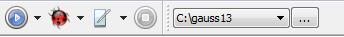 Current working directory widget