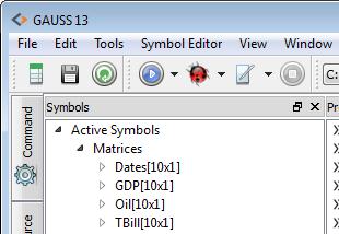 Viewing current symbols