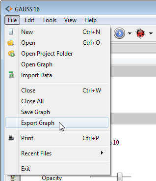 Select File->Export graph