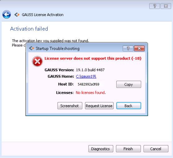 License Manager Error (-18): GAUSS 19+ | Aptech